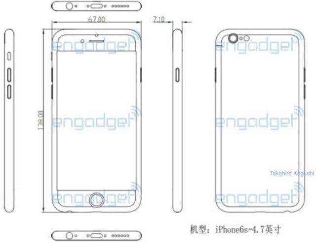 Схемы iPhone 6S попали в сеть