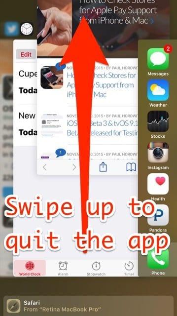 Как в айфоне 6 закрывать приложения