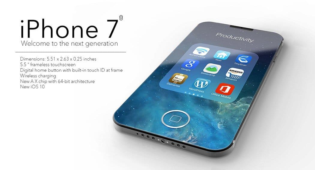 Дизайнер показал концепт iPhone 7 с экраном «от края