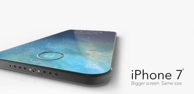 Новый концепт iPhone 7 с безрамочным дисплеем