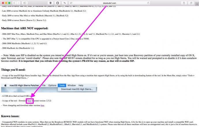 Как загрузить финальную версию macOS High Sierra